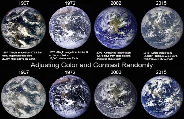 As muitas versões da Terra desde 1967 até 2015
