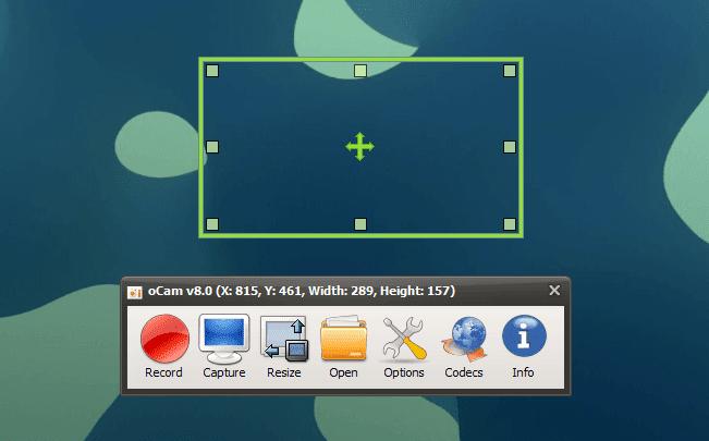 برنامج oCam لتصوير شاشة الكمبيوتر