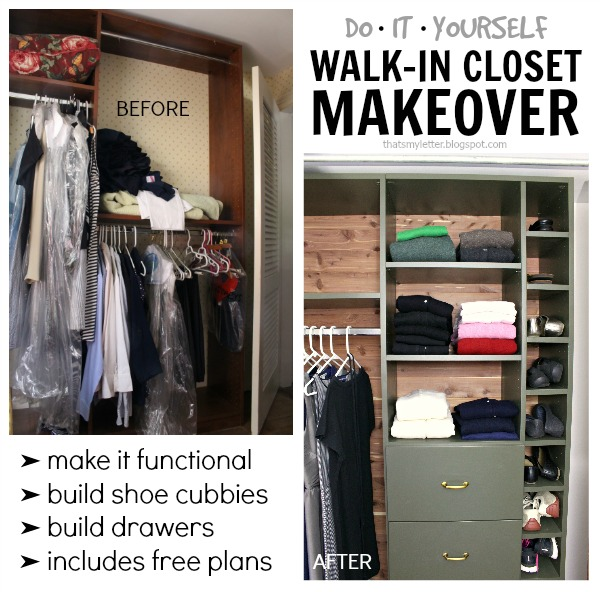 walk-in closet makeover built-ins