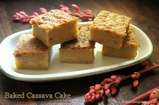 images of Baked Cassava Cake / Baked Tapioca Cake / Bingka Ubi Kayu / Cassava Cake / Tapioca Cake