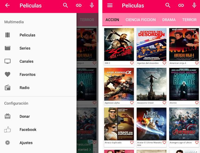 App para ver televisión, películas y series