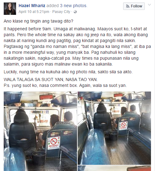 This Pretty Girl Was So Afraid When 3 Men In A Jeepney Did This To Her!Ba't Mag-Isa Ka Lang, Miss?'