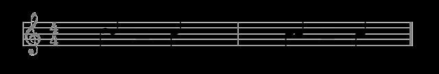 La figura con dos plicas equivale a la coincidencia de dos voces en la misma figura