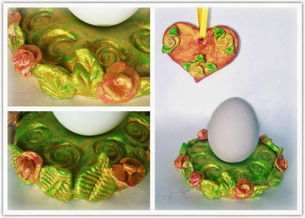 пасхальная подставка для яиц и сердечко