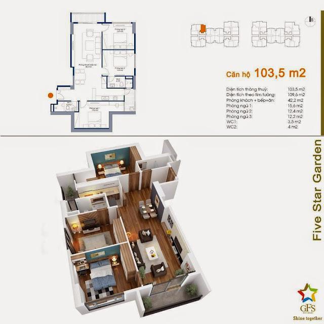 Căn 103,5 m2