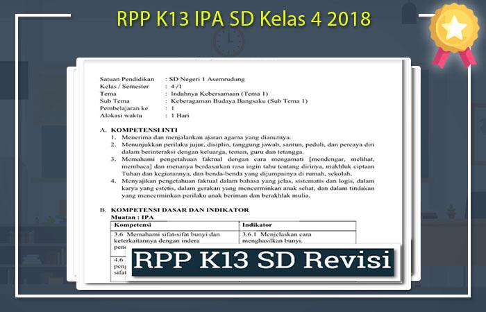 RPP IPA SD Kelas 4