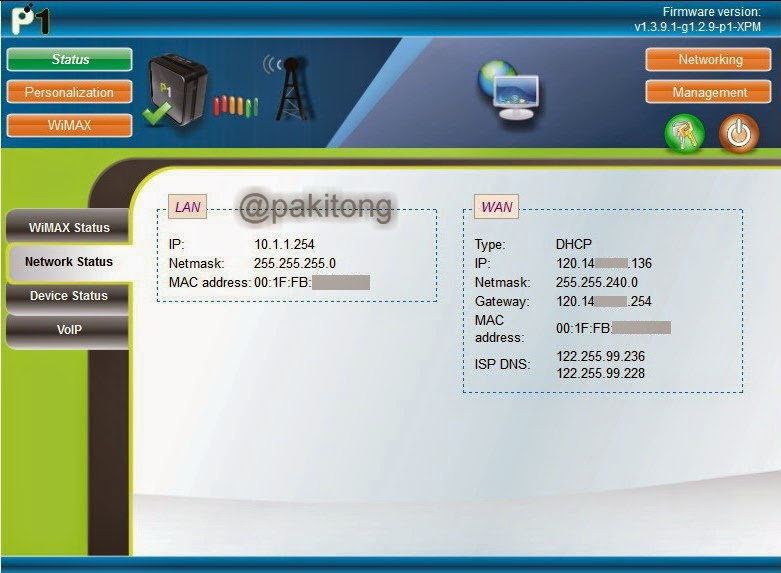 how to check p1 wimax quota usage