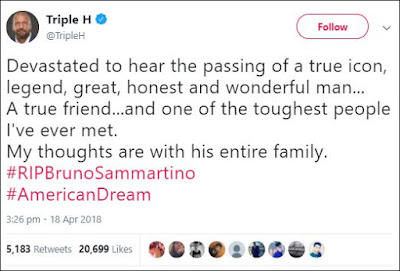 Triple H Tweets About Bruno Sammartino