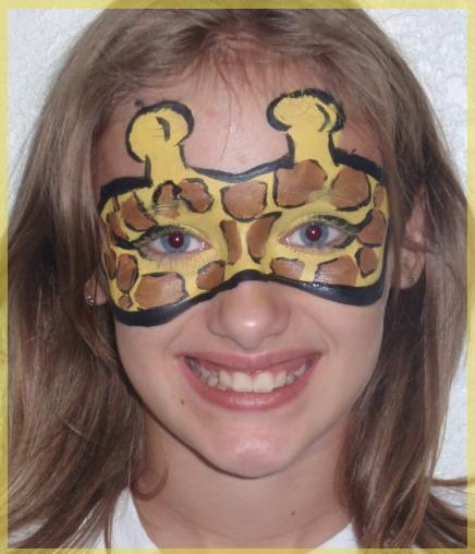 Pintura Facial De Girafa - Animais