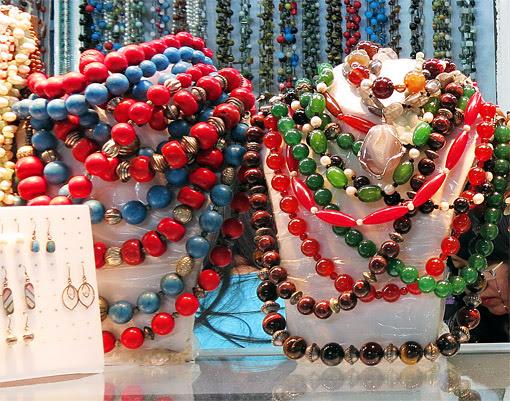 ethnic jewelry from Myanmar at Bogyoke market