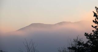 Hills through the haze