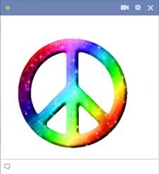 Peace Sign Facebook Emoticon