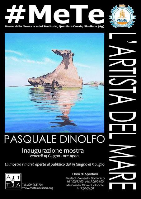 L'artista del mare: personale di Pasquale Dinolfo al Museo #MeTe di Siculiana