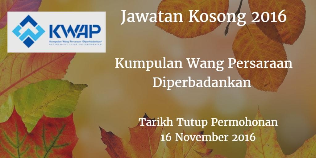 Jawatan Kosong KWAP 16 Disember 2016