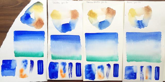 Сравнение акварельной хлопковой бумаги Lana, Saunders, Fabriano, Arches | Блог yainkin - Inna Yakusheva