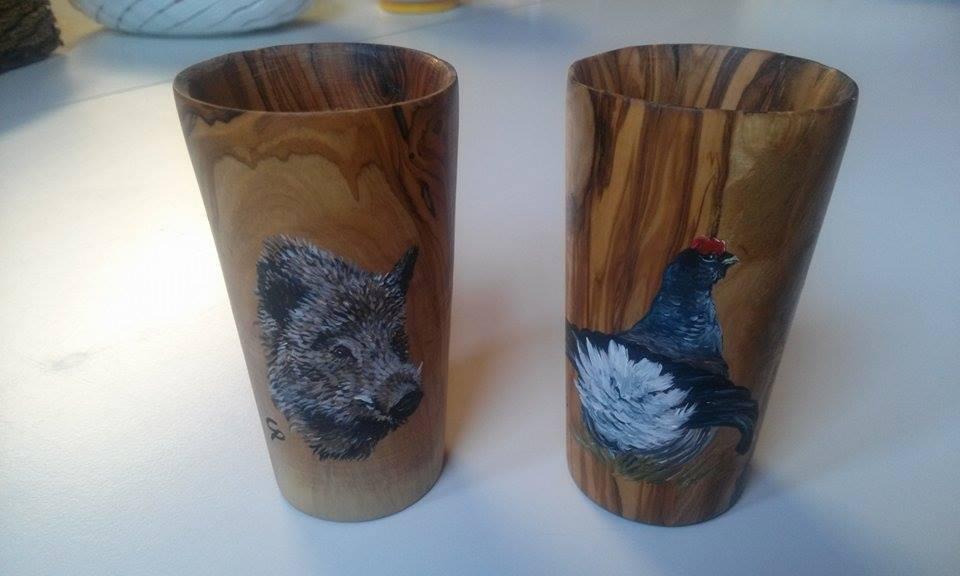 Decorarte idea regalo per il natale bicchieri in legno for Bicchieri in legno