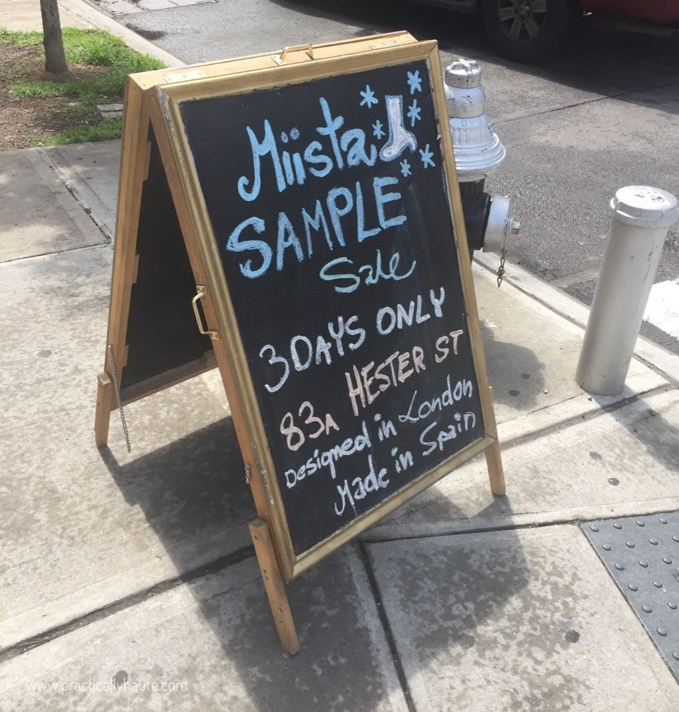 Miista Shoes Sample Sale
