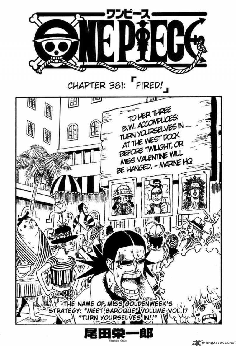 One Piece Ch 381