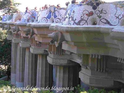 Parc Güell sala 100 colonne