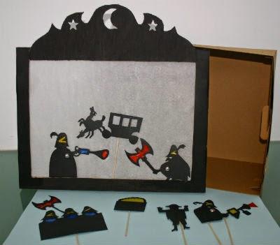 DIY manualidad infantil teatro sombras