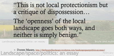 Massey quotation: 'this is not local protectionism but a critique of disposession'