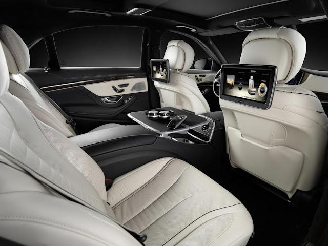 2014 Mercedes S Class rear seat