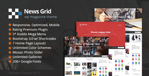 Download News Grid V1.4 - WP Magazine Theme