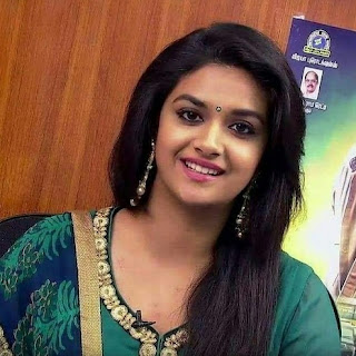 Keerthy Suresh in Green Dress with Cute and Awesome Lovely Chubby Cheeks Smile
