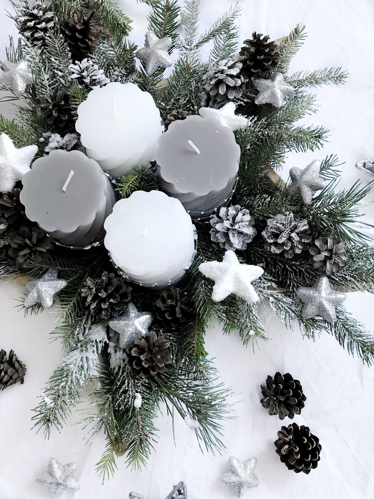 DIY advent wreath, DIY adventni venček, adventskkranz