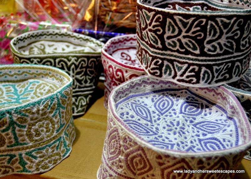 Traditional Omani Cap in Mutrah Souq