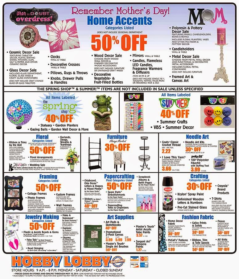 Coupons For Hobby Lobby Online Metrostyle Coupons 40 Off