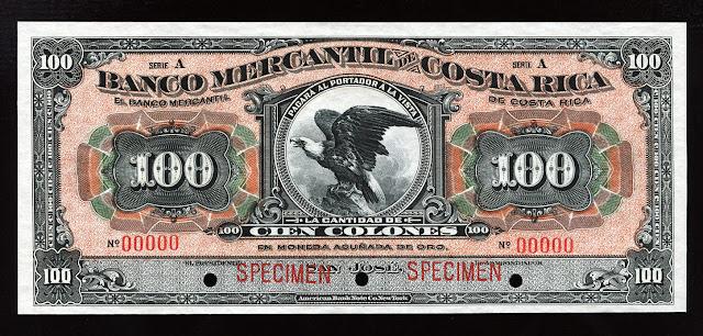 Costa Rica Cien Colones