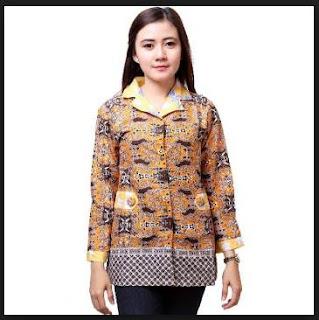 Model baju batik terbaru atasan wanita