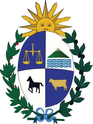 Imagen del escudo de Uruguay para niños