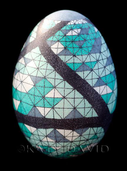 """""""Bound"""" ©Katy David, 2016. Goose eggshell, aniline dye, varnish"""