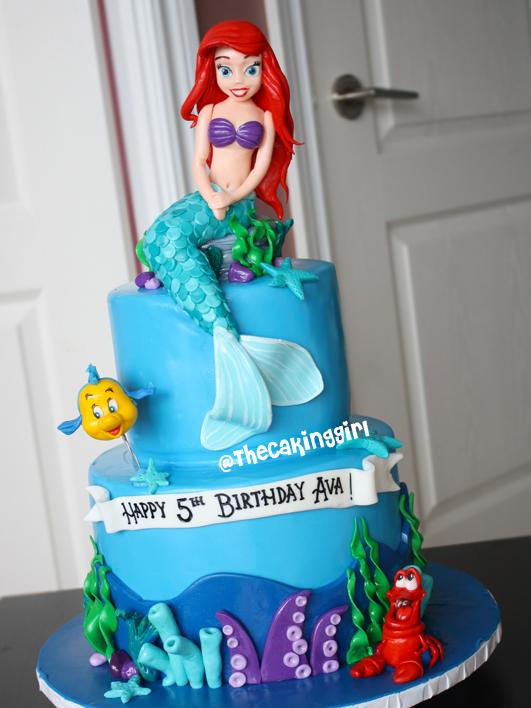 Little Mermaid Edible Cake Topper