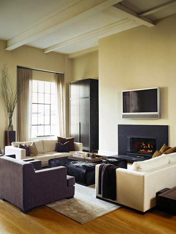 Nice Small Bachelor Pad Living Room Idea With L-shaped Sofa And