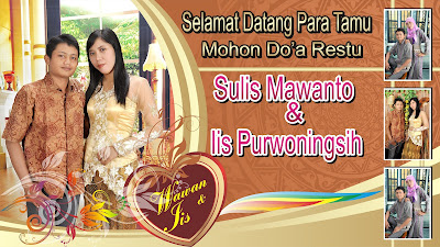 banner pernikahan unik