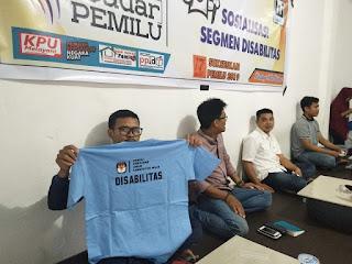 Sosialisasi Segmen Disabilitas, KPU Wajo Gandeng Wadjo Institute