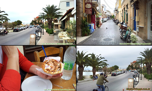 Ilha de Aegina | Orla, ruas e gyros , comída típica grega