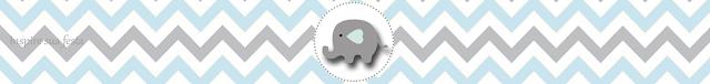 Etiquetas de Elefante Bebé en Celeste y Gris para imprimir gratis.