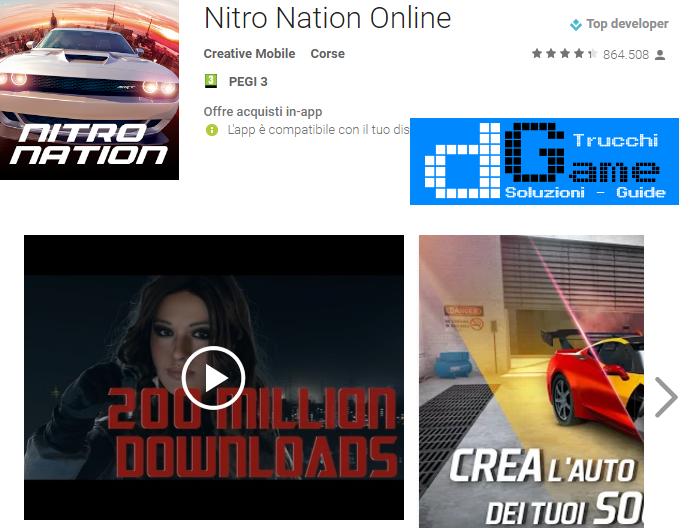 Trucchi Nitro Nation Mod Apk Android v3.8.0