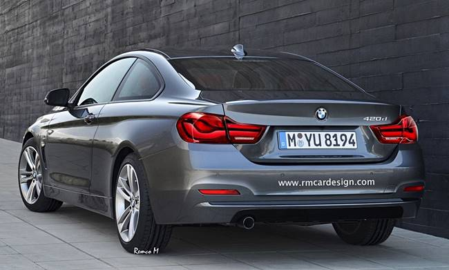 2017 BMW 4 Series Facelift Rendering