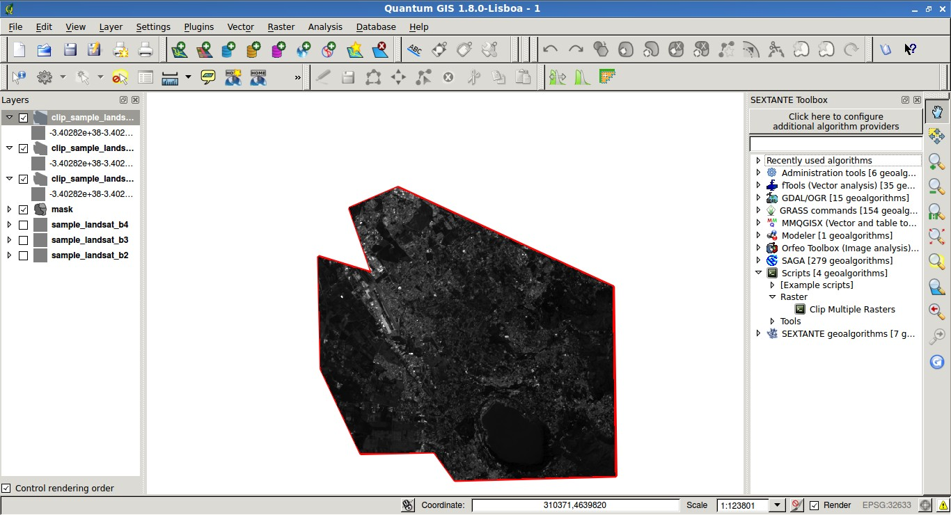 From GIS to Remote Sensing: Integrate the Python Script that Clips