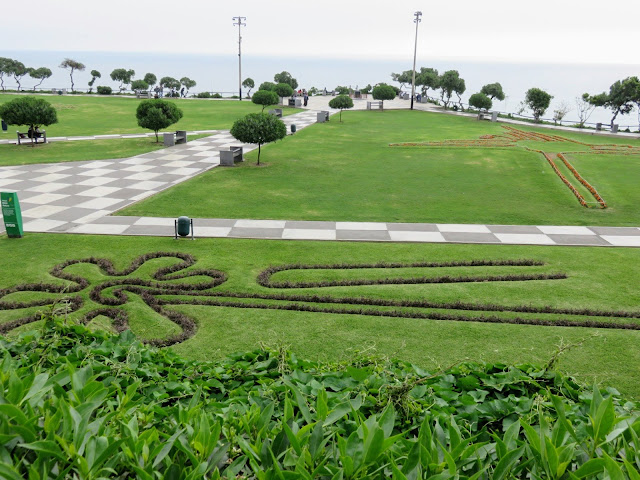 Park featuring mini-Nasca Lines along Lima's Malecon (The Miraflores Boardwalk)