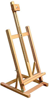 Table top easel for artists