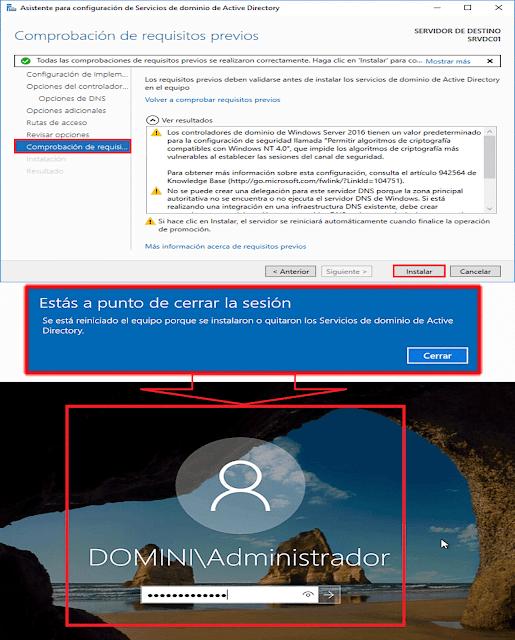 Windows Server 2016: Promocionar un servidor a controlador de dominio de Active Directory - Servicios de dominio de Active Directory