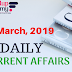 CURRENT AFFAIRS/GK | 19 March, 2019
