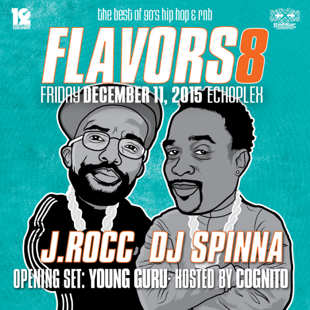 Flavors8 - The Best of 90´s Hip Hop and RNB | J.Rocc und DJ Spinna Mixtape im Stream
