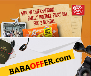Britannia Good Day Biscuit Contest Win GREAT INTERNATIONAL FAMILY HOLIDAY